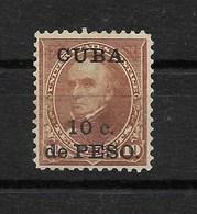 CUBA 1899 / YT 141*  Neuf Sans Gomme OCCUPATION  AMERICAINE / Cote 2006 = 33.50 Euros \ Faire Offre \ - Neufs