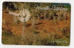 NOUVELLE CALEDONIE NC74 EOLIENNE 25U 40 000ex Année 08/2000 - Nueva Caledonia