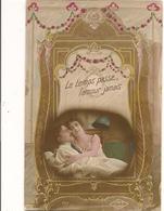 LE TEMPS PASSE L'AMOUR JAMAIS  Femme Poilu Couple Amour Patriotique Guerre 1914-1918 - Patriotiques
