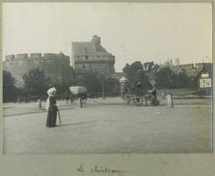 Tirage Argentique Circa 1910. Saint-Malo. Le Château. Animé. Bretagne. - Lieux