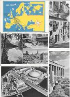KLM GUIA TURISTICA EUROPA AÑO 1951 COMPLETA CON 16 POSTALES CON ENTEROS PUBLICITARIOS RARE ET BELLE COMPLETE SET VOIR SC - Aviación