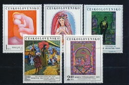 1970 Czechoslovakia MNH - Mi 1965-1969 ** MNH ART - Painting - Cecoslovacchia