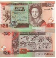 BELIZE  20  Dollari  (2017)  P69f UNC - Belize