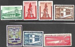 Dominican Republic   1942   Sc#366-8, 379-80, 382, C37  7 Diff MH  2016 Scott Value $14.30 - Dominican Republic