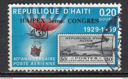 Haïti, Haitia, Montgolfière, Hot Air Balloon, Airmail, Timbre Sur Timbre, Exposition Philatélique, Philatelic Exhibition - Montgolfier