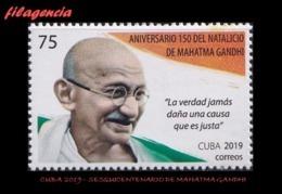 AMERICA. CUBA MINT. 2019 SESQUICENTENARIO DE MAHATMA GANDHI - Cuba