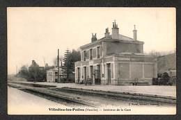 50 - VILLEDIEU Les POËLES - Intérieur De La Gare - 1921 ,#50/009 - Sonstige Gemeinden