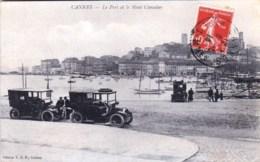 06 -  CANNES  -  Le Port Et Le Mont Chevalier ( Belle Animation D Automobiles Anciennes ) - Cannes