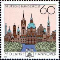 RFA Poste N** Yv:1323 Mi 1491 Yv 1,8 Euro 750 Jahre Hannover - [7] Federal Republic