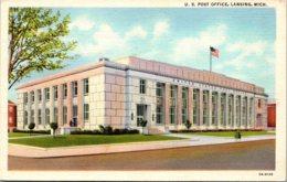 Michigan Lansing Post Office Curteich - Lansing