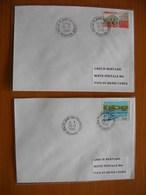 Réunion : Deux Plis De 1996 Avec Cachets De La Plaine Des Cafres   Et De La Plaine Des Palmistes - Réunion (1852-1975)