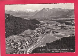 Modern Post Card Of Fliegeraufnahme Von Heimberg B/Thun Mit Niesen U.den Alpen,Berne,Switzerland,A42. - BE Berne