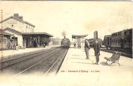 4598- VERNEUIL-L'ETANG -la Gare -ed. A Rep Et Filliette - France