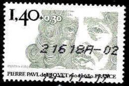 France Poste Obl Yv:2100 Mi:2223 Pierre Paul De Riquet Ingenieur (Obl.mécanique) - Frankrijk