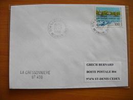 Réunion : Pli De 1996 Avec Cachet Du Petit Bureau De La Cressonnière + Cachet Linéaire Du Même Bureau - Réunion (1852-1975)