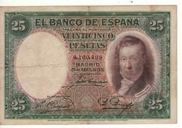 SPAIN 25 Pesetas. 25.4.1931. P81 - 1-2-5-25 Pesetas