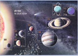 5X INDIA 2018 The Solar System; Miniature Sheet, MINT - India