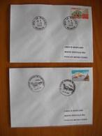 Réunion : Deux Plis De 1996 Avec Cachets De La Rivière  : Cachet Manuel Et Cachet La Rivière Berceau De L'Artisanat - Réunion (1852-1975)