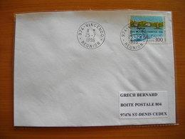 Réunion : Pli De 1996 Avec Cachets Du Petit Bureau De Vincendo - Réunion (1852-1975)