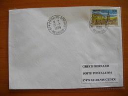 Réunion : Pli De 1996 Avec Cachets Du Petit Bureau Du Piton-des- Goyaves - Réunion (1852-1975)