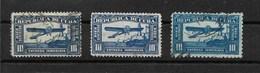 CUBA / AVION / LETTRES EXPRES 1914/1927 Et 1936 Aéroplane Et Chateau//  LOT 3 Obl.YT N° 4, 5 Et 5a (C. 9.00 Euros 2006) - Francobolli Per Espresso