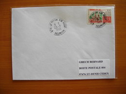 Réunion : Pli De 1996 Avec Cachets Du Petit Bureau Du Piton Sainte Rose - Réunion (1852-1975)