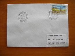 Réunion : Pli De 1996 Avec Cachets Du Petit Bureau De La Ravine Blanche - Réunion (1852-1975)