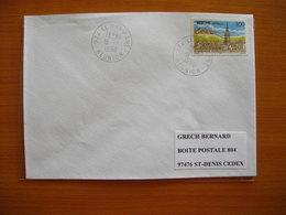 Réunion : Pli De 1996 Avec Cachets Du Petit Bureau Du Dos D'Ane - Réunion (1852-1975)