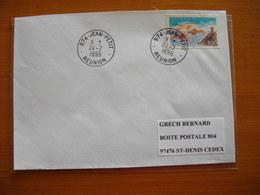Réunion : Pli De 1996 Avec Cachets Du Petit Bureau De Jean-Petit - Réunion (1852-1975)