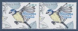 N° 5238 Mésange Bleue Faciale 0,80 € X 2 - France