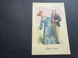 Couple ( 89 )  Koppel   Carte Gaufrée  Reliëf - Couples