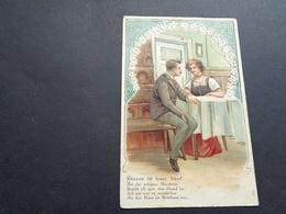 Couple ( 90 )  Koppel   Carte Gaufrée  Reliëf - Couples