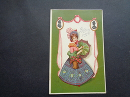 Femme ( 1432 )  Vrouw   Carte Gaufrée  Reliëf - Femmes