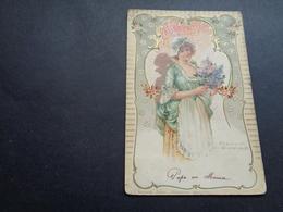 Femme ( 1437 )  Vrouw   Carte Gaufrée  Reliëf - Femmes