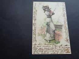 Femme ( 1438 )  Vrouw   Carte Gaufrée  Reliëf - Femmes