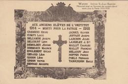 WAVRE / GUERRE 1914-18 / MEMORIAL  DES ELEVES DE L INSTITUT ST JEAN BAPTISTE - Wavre