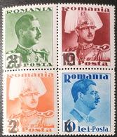 Romania 1937 Stamps From Block 2 - Romunija MNH (**) - 1918-1948 Ferdinand, Charles II & Michael