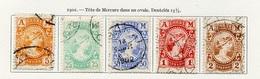 Grèce - Griechenland - Greece 1902 Y&T N°160 à 164 - Michel N°139 à 143 (o) - Mercure - Oblitérés