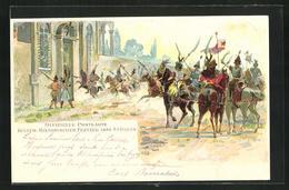Lithographie St. Gallen, Kulturhistorischer Festumzug 1899 - SG St. Gallen