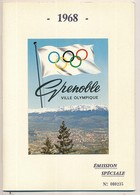 Plaquette 12 Pages FDC Des Xèmes Jeux Olympiques D'Hiver De Grenoble 1968  Olympic Games 68 22.04.67  27.01.68  06.02.68 - Winter 1968: Grenoble