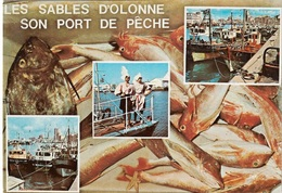 Animaux & Faune - Poissons Et Crustacés - Les Sables D'Olonne Son Port De Pêche - Cpm - Vierge - - Vissen & Schaaldieren