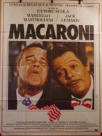 Aff Cine Orig MACARONI Maccheroni (Ettore Scola1996) 120X160 Jack Lemmon M Mastroianni - Plakate & Poster