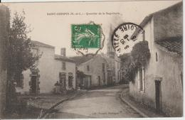 SAINT CRESPIN (M.-et-L.) Quartier De La Ragotterie Circulée Timbre Semeuse 10c 1913 - Otros Municipios