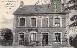 C P A 76 Seine Maritime Norville Café Restaurant Lenoir Animée Gastronomie Troquet  Normandie - Frankreich