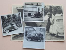 Oude Auto's / Old Cars / Vieux Automobiles > Anno 19?? ( Zie / Voir Photos ) 3 Stuks / Form. +/- 5,5 X 5,5 Cm. + 1 CP ! - Automobiles
