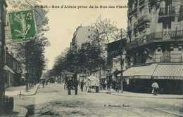 PARIS  Rue D'Alesia Prise De La Rue Des Plantes Commerces Attelages RV - District 14