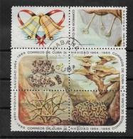 """CUBA 1964 YT 790/794 Oblitérés Bloc Complet Sujet """"VIE MARINE""""   Cote 2006= 1.50 Euro - Gebraucht"""