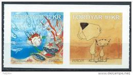 Féroé 2010 N°696/697 Adhésifs Neufs Europa Livres Pour Enfants - Färöer Inseln
