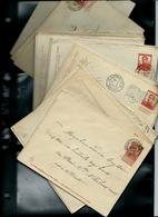 Lot De 39 Enveloppes Obl.  Entre N° 5 Et 20 - Briefe
