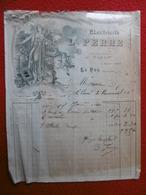 FACTURE ILLUSTRÉE ART DECO LE PUY ELECTRICITE PERRE 1910 - Frankreich